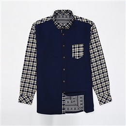 HB3001 老款加绒纯棉衬衫